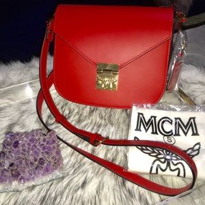 NWT authentic MCM Ruby Patricia Leather Cross Body